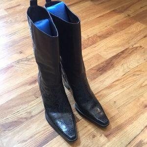 Women's Antonio Melani Leather Western Style Boot
